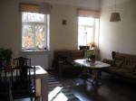 Hostel front room.
