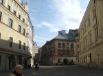 More Old Town pictures now--different location from the university. Lublin's Stare Miasto is closely buit, like the streets of the reconstructed one in Warsaw. The buildings shadow each other.